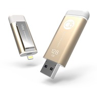 ADAM Elements iKlips Lightning Flashspeicher - 128 GB - gold