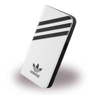adidas Basics - Book Cover/ Hülle/ Handytasche - Samsung G920F Galaxy S6 - Weiss/ Schwarz