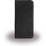 adidas Basics - Book Cover - Samsung Galaxy S7 Edge - Schwarz/ Schwarz