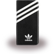 adidas Basics - Book Cover - Samsung Galaxy S7 Edge - Schwarz/ Weiss