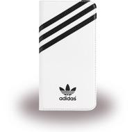 adidas Basics - BookCover für Apple iPhone 6 Plus/ 6S Plus - weiß/ schwarz