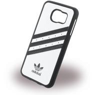 adidas Basics - Hard Cover /  Case /  Schutzhülle - Samsung G920F Galaxy S6 - Weiss/ Schwarz