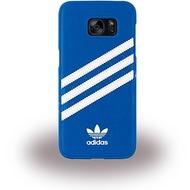 adidas Basics - Hard Cover - Samsung Galaxy S7 Edge - Blau/ Weiss