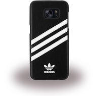 adidas Basics - Hard Cover - Samsung Galaxy S7 Edge - Schwarz/ Weiss