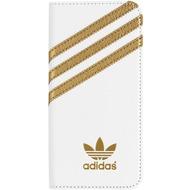 adidas Basics Premium Booklet Case for iPhone 6/ 6s white/ gold