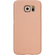 AGNA iPlate Real Leather for Galaxy S6 jet beige