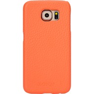 AGNA iPlate Real Leather for Galaxy S6 summer red