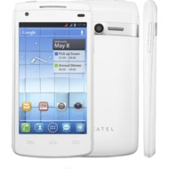 Alcatel onetouch 992D, white matt