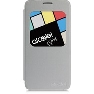 Alcatel onetouch Flipcover für POP 4 PLUS - metal silver