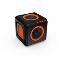 allocacoc audioCube, Bluetooth Lautsprecher im Cube Design, schwarz /  orange