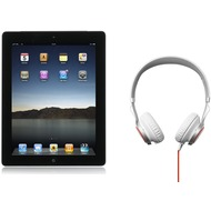 Apple iPad 2 16GB (UMTS), schwarz + Jabra Stereo Headset REVO, weiß