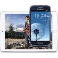 Apple iPad Air 2 16GB (WLAN), Silber mit Galaxy S3 mini Value Edition, schwarz