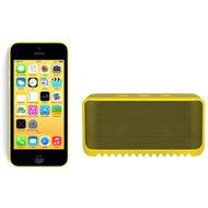 Apple iPhone 5C, 16GB, gelb (Telekom) + Jabra Bluetooth Lautsprecher Solemate mini, gelb