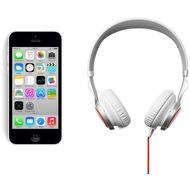 Apple iPhone 5C, 16GB, weiß (Telekom) + Jabra Stereo Headset REVO, weiß