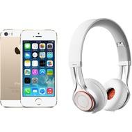Apple iPhone 5s, 16GB, gold (Telekom) + Jabra REVO WIRELESS, weiß