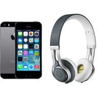 Apple iPhone 5s, 16GB, spacegrau (Telekom) + Jabra REVO WIRELESS, grau