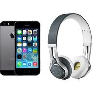 Apple iPhone 5s, 16GB, spacegrau (Telekom) + Jabra REVO WIRELESS, grau