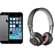 Apple iPhone 5s, 16GB, spacegrau (Telekom) + Jabra REVO WIRELESS, schwarz