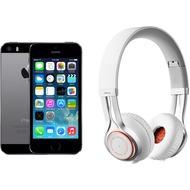 Apple iPhone 5s, 16GB, spacegrau (Telekom) + Jabra REVO WIRELESS, weiß