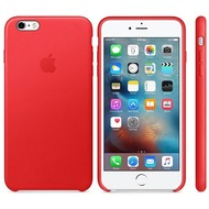 Apple iPhone 6s Plus, iPhone 6 Plus, Leder Case, rot