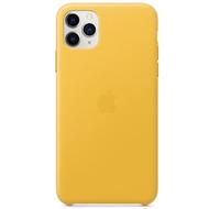 Apple Leder Case iPhone 11 Pro Max sonnengelb
