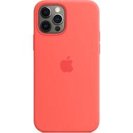 Apple Silikon Case iPhone 12/ 12 Pro mit MagSafe (zitruspink)