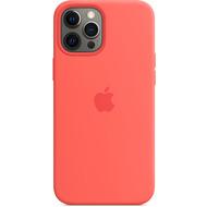 Apple Silikon Case iPhone 12 Pro Max mit MagSafe (zitruspink)