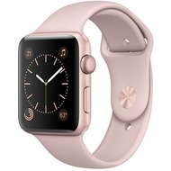 Apple Watch Series 1 - 42 mm Aluminiumgehäuse rosegold - Sportarmband sandrosa