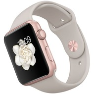 Apple Watch Sport 42 mm Aluminumgehäuse roségold mit Sportarmband in stein