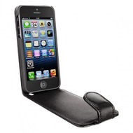 Artwizz SeeJacket Leather FLIP f�r iPhone 5, schwarz