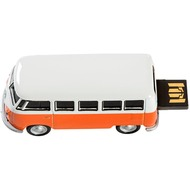 AutoDrive , USB 2 Flash Drive, VW Bus T1 Bulli, 16 GB, orange