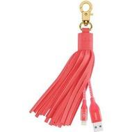 Belkin Fashion Charging Ledertroddel m.Lightning-/ USB, Pink