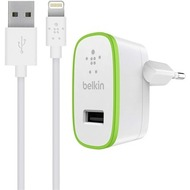 Belkin Wall Charger 2,4 A +1,2m Lightning Kabel für Apple Weiß