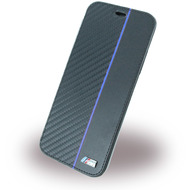 BMW Carbon Book Cover, Bi,Material, Apple iPhone X, Navy