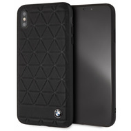 BMW Embossed Hexagon, Leder Hardcover, Apple iPhone XS Max, Schwarz
