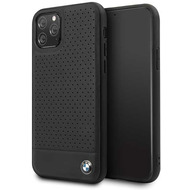 BMW Perforated - Apple iPhone 11 - Leder TPU Cover Case Schutzhülle Hülle - Schwarz