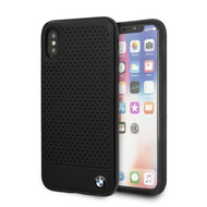 BMW Perforated, Leder TPU/ PC Case, Apple iPhone XS Max, Schwarz