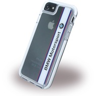 BMW Shockproof Vertical Logo - Hard Cover - Apple iPhone 7 - Weiss