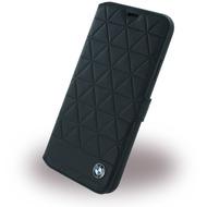 BMW Signature Hexagon, Leder Book Cover, Apple iPhone X, Schwarz