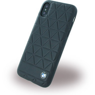BMW Signature Hexagon, Leder Hardcover, Apple iPhone X, Schwarz
