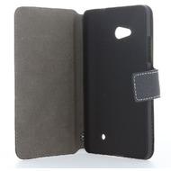 BookStyle Tasche Vertikal mit Halterung für HTC Desire 530 - schwarz