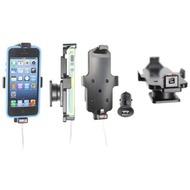 Brodit Aktivhalter mit Pass-Through Connector für iPhone 5/ 5S/ SE mit Skin (Lightning, inkl. KFZ-USB-Ladegerät)