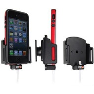 Brodit Aktivhalter mit Pass-Through Connector für iPhone 5/ 5S/ SE mit L Skin (Lightning-30Pin)