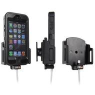 Brodit Aktivhalter mit Pass-Through Connector für iPhone 5/ 5S/ SE mit XL Skin (Lightning-30Pin)