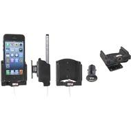 Brodit Aktivhalter mit Pass-Through Connector für iPhone 5/ 5S/ SE (Lightning, inkl. KFZ-USB-Ladegerät)