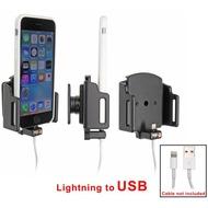 Brodit Passivhalter für Apple iPhone 6s Kabelauf. Lightning zu 30-Pin mit Hülle