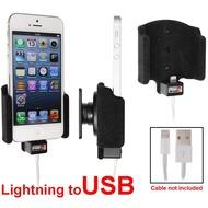 Brodit Aktivhalter mit Pass-Through Connector für iPhone 5/ 5S/ SE (Lightning)