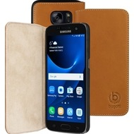 Bugatti BookCover Oslo für Samsung Galaxy S7, Cognac Braun