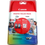 Canon Tintenpatronen Value-Pack PG540XL/ CL-541XL schwarz/ color - inkl. 50 Blatt Fotopapier 10x15cm