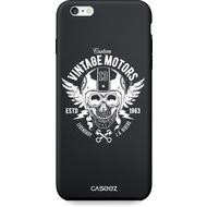 """Caseez Back Case """"Biker"""" für Apple iPhone 6/ 6S, schwarz/ weiß"""